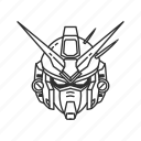 anime, cartoon, dendrobium, gundam, mech, robot, stardust icon