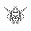 anime, cartoon, gundam, gundam physalis, mecha, robot, stardust icon