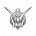 anime, cartoon, gundam, gundam deathscythe, reaper, robot, scythe icon