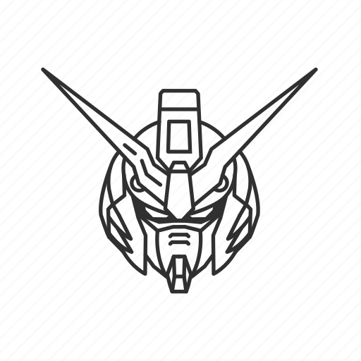anime, cartoon, gundam, gundam deathscythe, reaper, robot, scythe icon