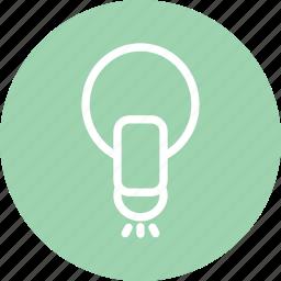 bulb, business, idea, lamp, light, light icon, startup icon
