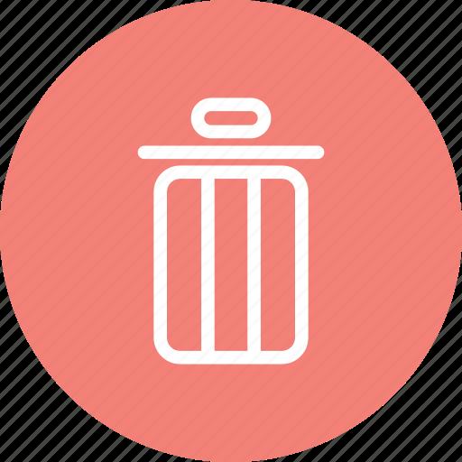 delete, garbage, remove, trash, trash icon icon