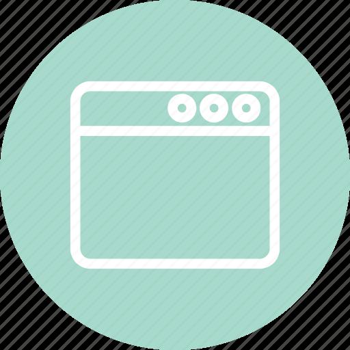 browser, navigator, website, window, window icon icon