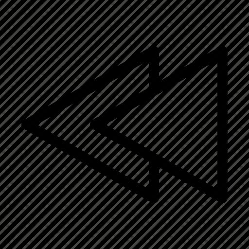left arrows, previous, previous song, previous track icon
