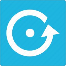 launch, reset, start icon