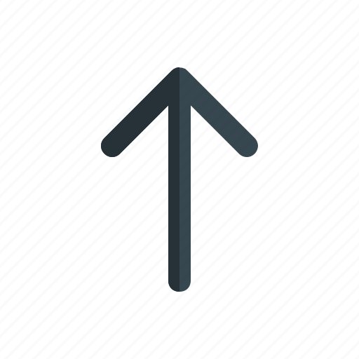 arrow, direction, interface, mobile, top, up icon