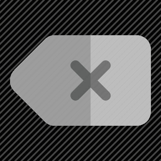 back, close, delete, keyboard, remove icon