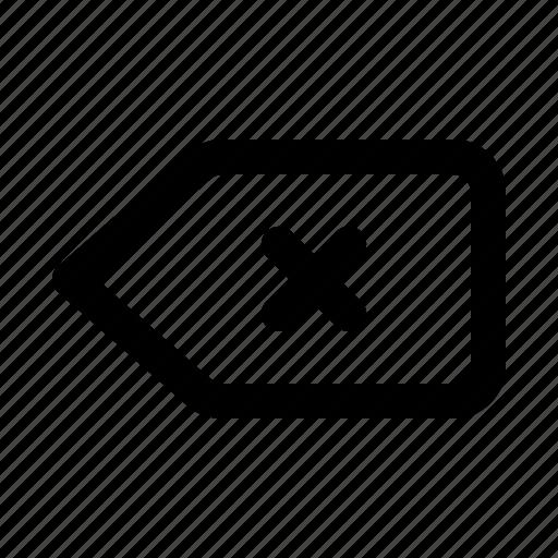 backspace, bin, cancel, close, delete, remove, trash icon