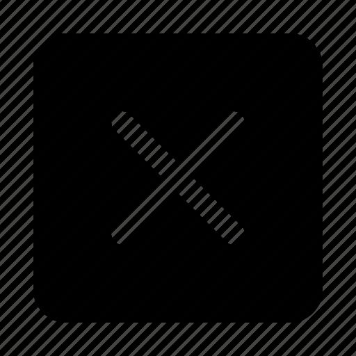 Cancel, close, delete, exit, quit, rectangle, remove icon - Download on Iconfinder