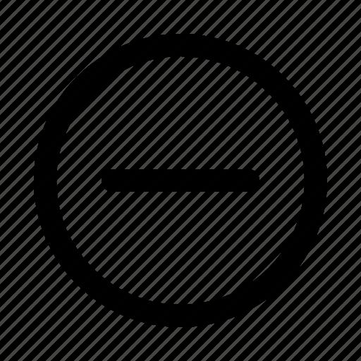 Circle, delete, min, minimize, minus, remove icon - Download on Iconfinder