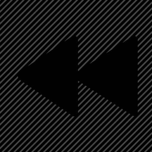 arrow, backward, movie, player, video icon