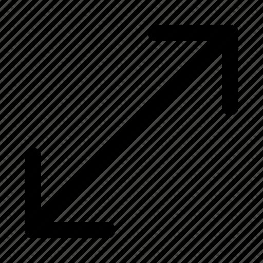 arrow, expand, fullscreen, maximize, move, screen icon