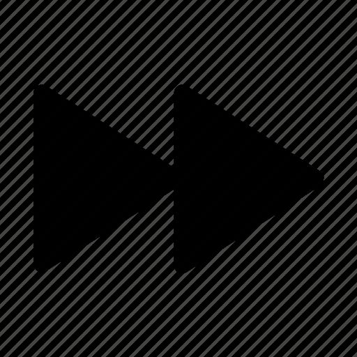arrow, forward, movie, player, video icon