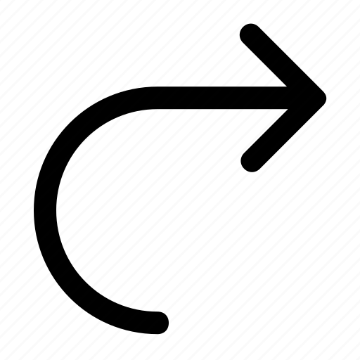 arrow, forward, next, redo, right icon