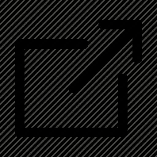 arrow, enlarge, expand, fullscreen, maximize, screen icon