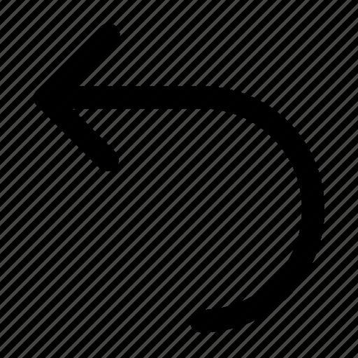 arrow, back, backward, left, move, redo icon