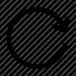 arrow, refresh, reload, restore, rotate icon