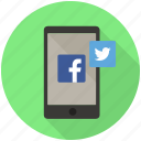 account, advertising, facebook, marketing, mobile, sharing, social icon