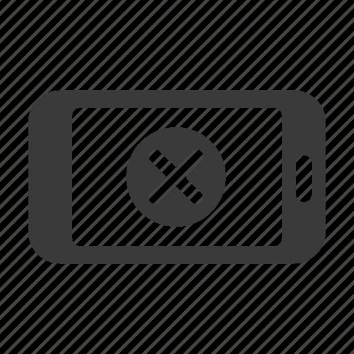 cancel, close, delete, mobile, phone, remove, smartphone icon
