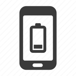 battery, charge, empty, mobile, phone, smartphone icon