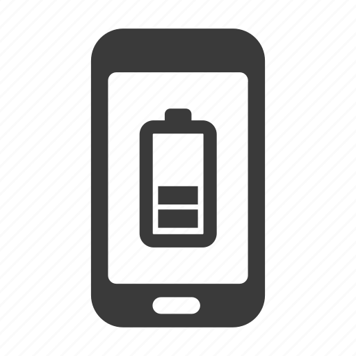 battery, charge, empty, energy, mobile, phone, smartphone icon