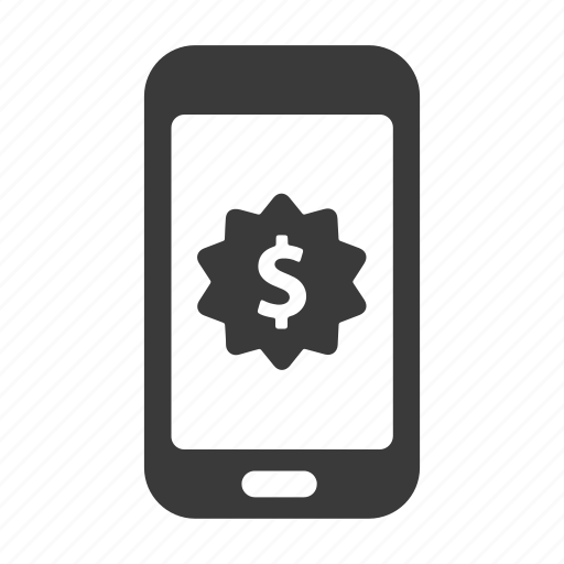 finance, mobile, money, phone, shopping, smartphone icon