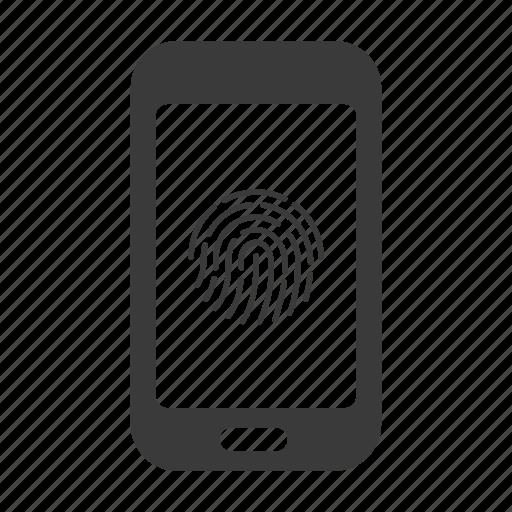 fingerprint, mobile, phone, scanner, secure, smartphone, touchid icon