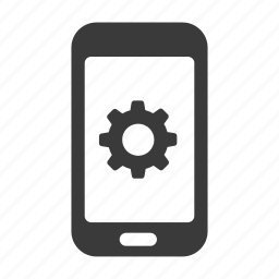 cog, control, gear, mobile, phone, settings, smartphone icon