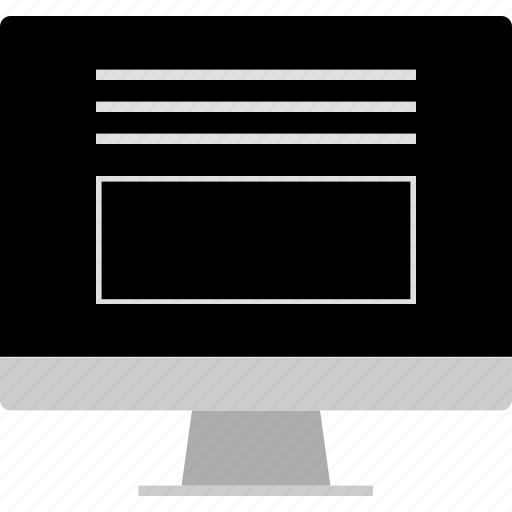 banner, bottom, description, layout, website, wireframe icon