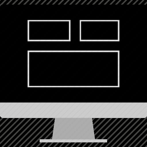 blog, computer, layout, website, wireframe icon