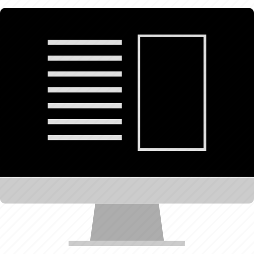 aside, computer, layout, screen, website, wireframe icon