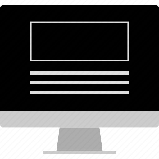 computer, layout, mac, screen, website, wireframe icon