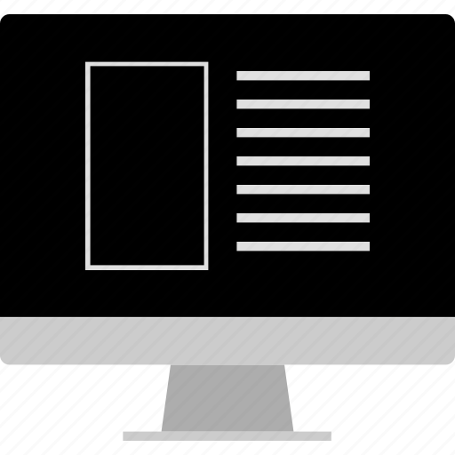 grid, layout, online, web, website, wireframe icon
