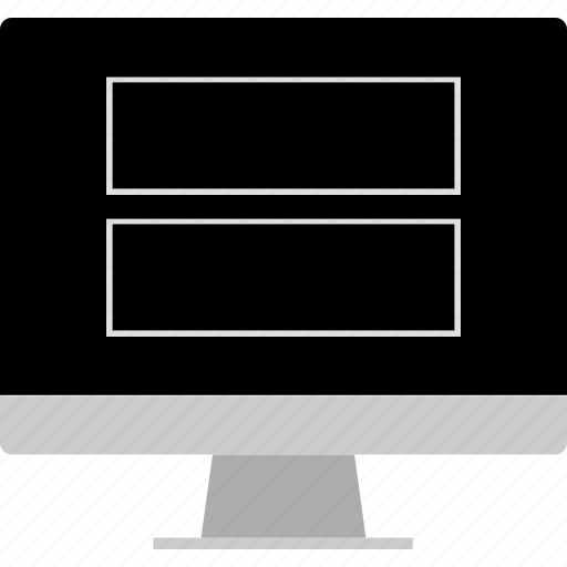 computer, layout, picture, screen, website, wireframe icon