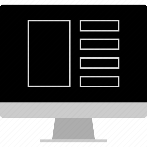 layout, screen, website, wireframe icon
