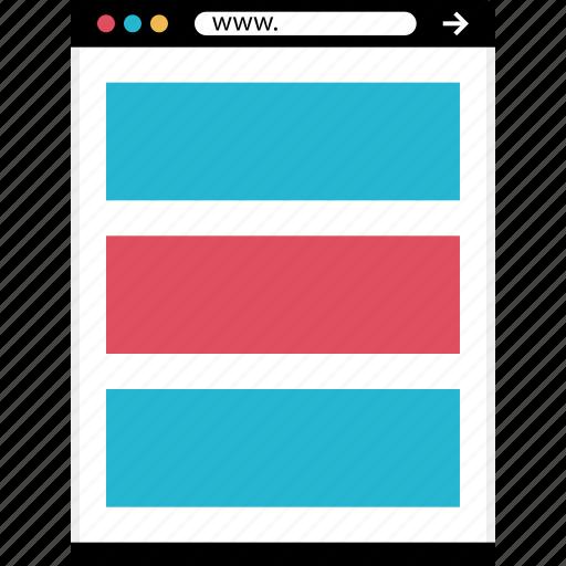 blog, mockup, online, post, web icon