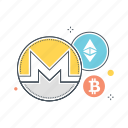 altcoin, altcoins, bitcoin, blockchain, crypto, cryptocurrency, ethereum icon