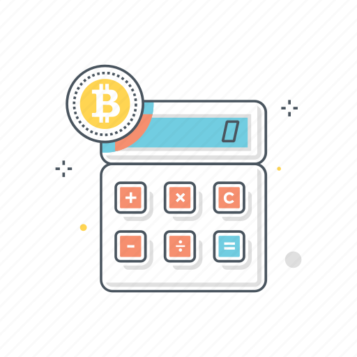 accounting, bitcoin, calculation, calculator, conversion, finance icon
