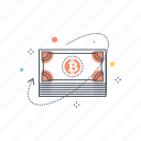 bitcoin, blockchain, byte, cash, crypto, cryptocurrency, currency icon