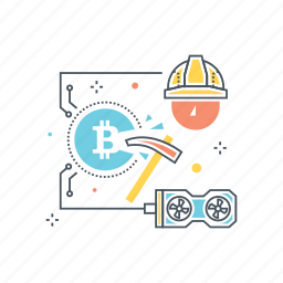 bitcoin, coin, craft, crypto, cryptocurrency, currency, miner icon