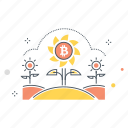 bitcoin, blockchain, cryptocurrency, currency, farm, mining, money icon