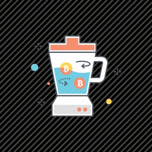 bitcoin, blender, crypto, cryptocurrency, mix, mixer, stir icon