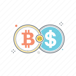 bitcoin, conversion, convert, currency, dollar, exchange, transfer icon