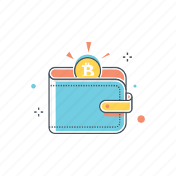 bitcoin, cash, coin, money, payment, shopping, wallet icon