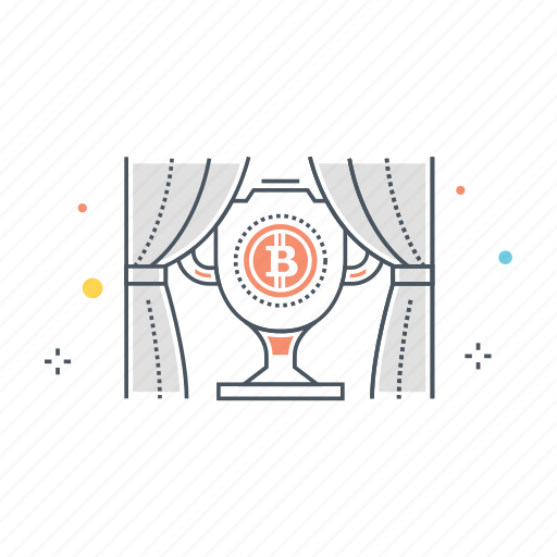 award, bitcoin, block, money, prize, reward, trophy icon