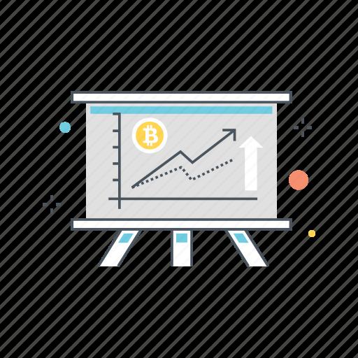 analysis, analytics, chart, cryptocurrencies, data, going, up icon