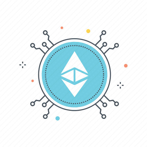 Blockchain Crypto Cryptocurrency Currency Ether Ethereum Mining Icon