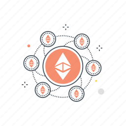 block, blockchain, crypto, cryptocurrency, currency, ethereum, network icon