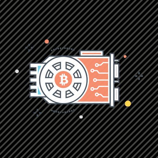bitcoin, build, cryptocurrency, gpu, hardware, mining, rig icon