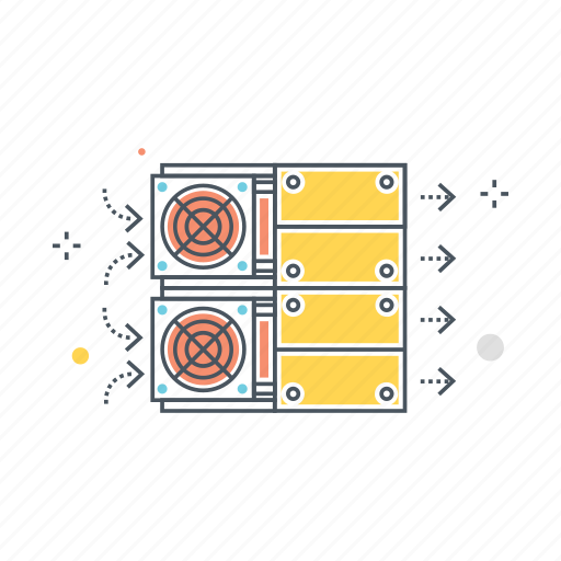 bitcoin, computer, cryptocurrency, hardware, mining, storage, technology icon